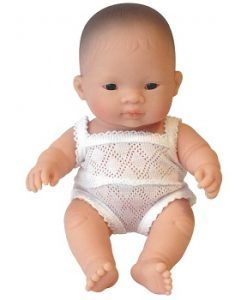 Miniland Baby Girl Asian Girl 21cm $34.95 www.sweetcreations.com.au  #sweetcreations #baby #toddler #kids #toys #play #bathtime #dinnertime #gifts