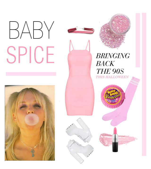 """BABY SPICE HALLOWEEN COSTUME"" by a-le-mode ❤ liked on Polyvore featuring Jeffrey Campbell, By Terry, MAC Cosmetics, Halloween, chic and fashionset"