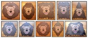 "Shape activities: Cute ""Shapely Lions"" 2D shape craft. (Not pictured heart & star)."