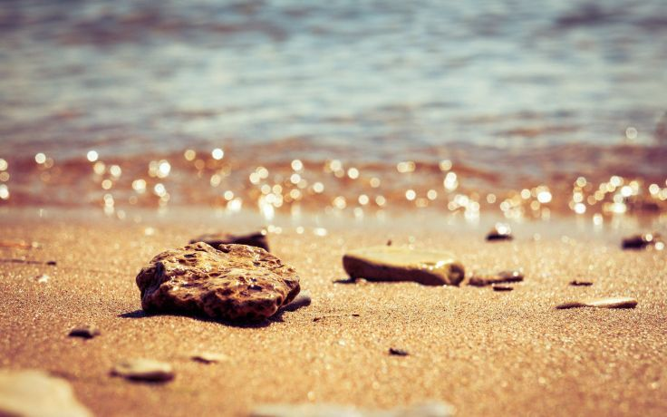 sand stones bokeh depth of field beaches wallpaper background