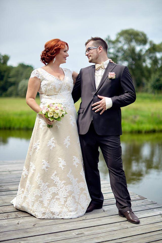 Lusinda svatební šaty  custom made wedding dress, vintage style, lace