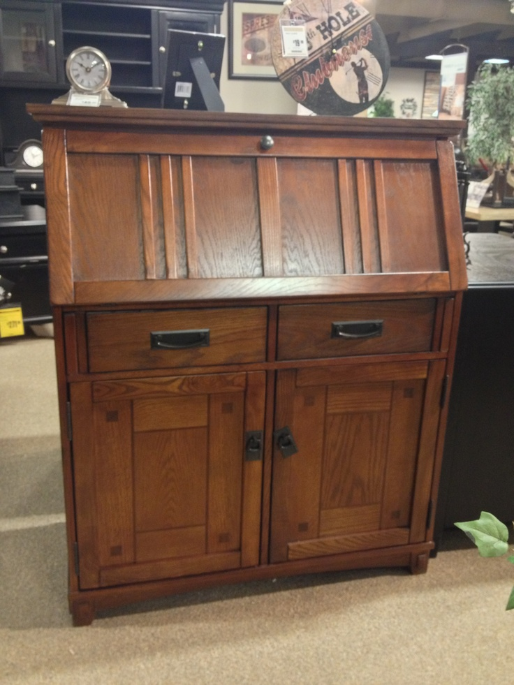 Cross Island Drop Front Secretary Desk At Your Ashley