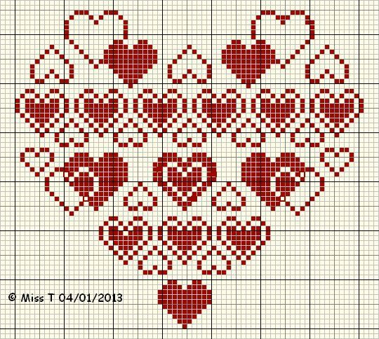 blog coeur free valentine heart cross stitch chart