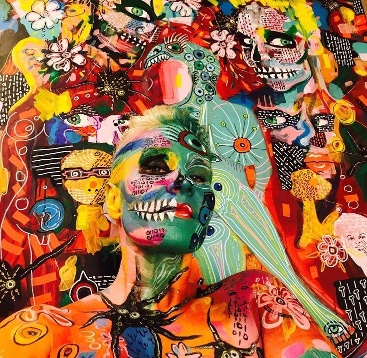 BODY ART BY CATHRINE ENGER JOHANSEN / MIX MEDIA  FISHBAIN 2017