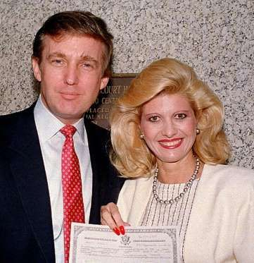 When she and Donald Trump divorced in the early '90s, Ivana Trump reportedly received an estimated $... - Invision/AP