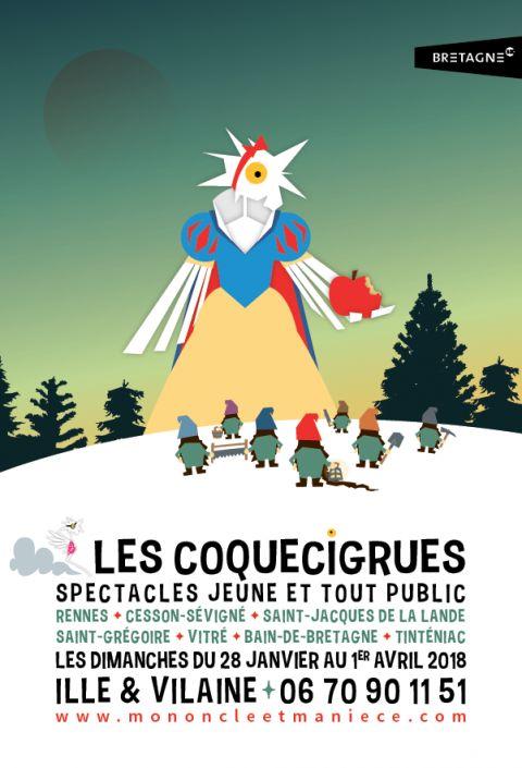 Affiche les Coquecigrues 2018 - print