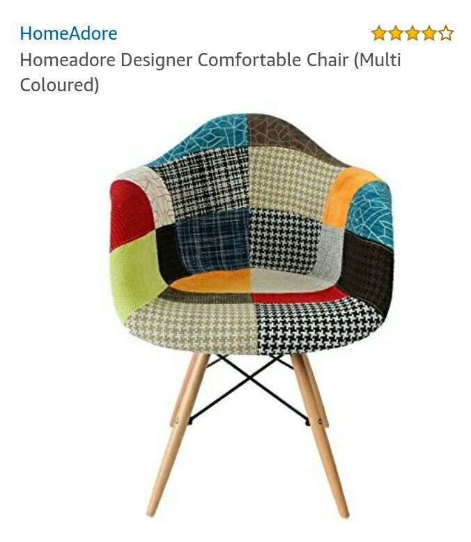 Pin By Munavver On Home Decor Patchwork Chair Modern Retro Chairs Patchwork Armchair