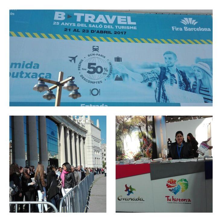 Empieza #BTravel. ¡No lo pienses más, ven y conoce las #experiencias #AlcalálaReal #Antequera #Écija #Lucena #PuenteGenil stand de #Andalucía