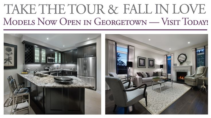 Beautifully decorated model homes are open to visit at Enclaves of Upper Canada in Georgetown.