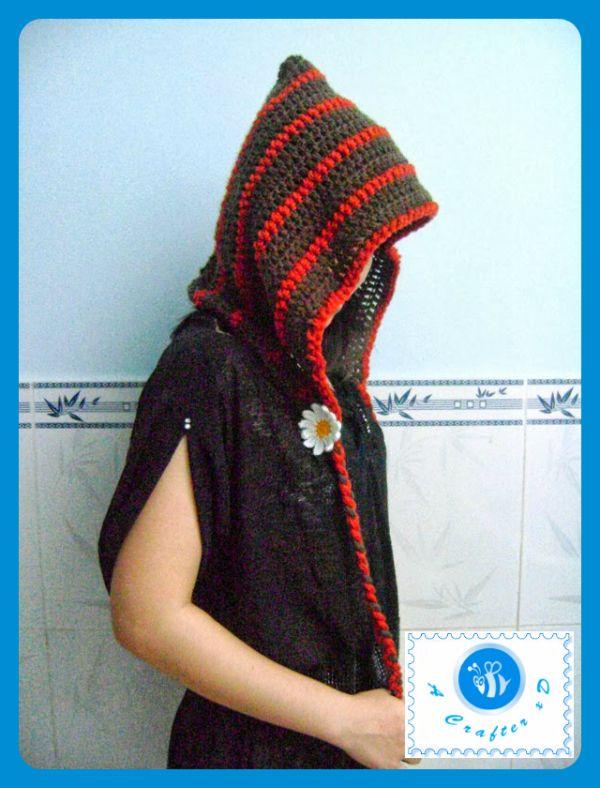 crochet woman hood free pattern