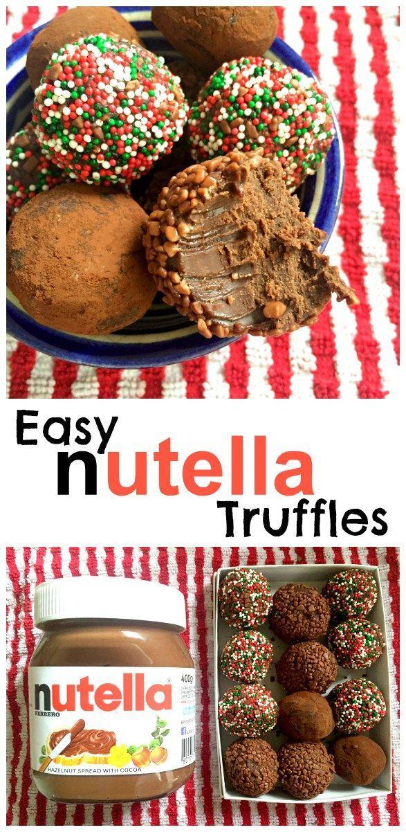 Leichte Nutella-Trüffel mit dem ganzen leckeren Haselnuss-Geschmack von Nutella – und nur … – Recipes & Beauty via Grace👑