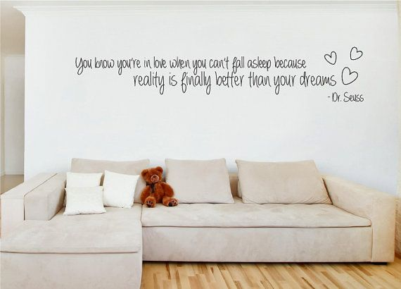 Dr Seuss Reality Is Better Than Your Dreams Love Quote Wall Sticker Mural On Etsy 2635