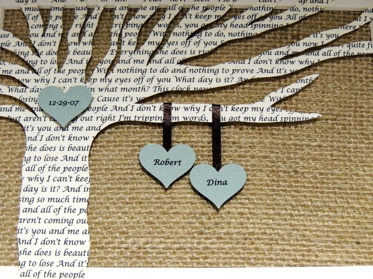 Unique Anniversary Gift, Wedding Gift, Paper and 1st Anniversary Gift - Song Lyrics Tree - 8x10 Frame Optional by HappyMomsCrafts on Etsy https://www.etsy.com/listing/117643195/unique-anniversary-gift-wedding-gift