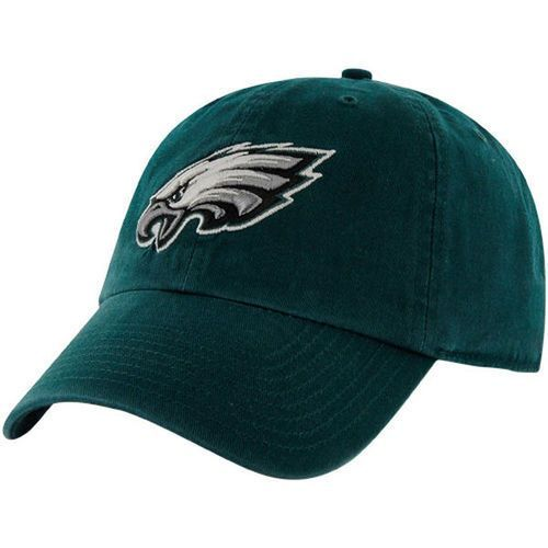 NFL Philadelphia Eagles '47 Brand Green Basic Logo Clean Up Home Adjustable Hat
