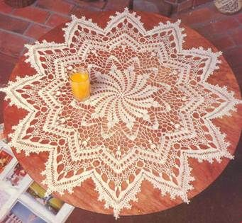 Crochet Center table - Etoile du berger