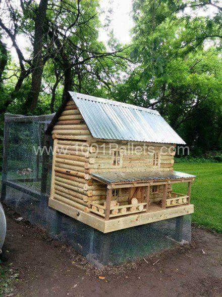 Log Cabin Chicken Coop Chicken Coops Chicken Coop