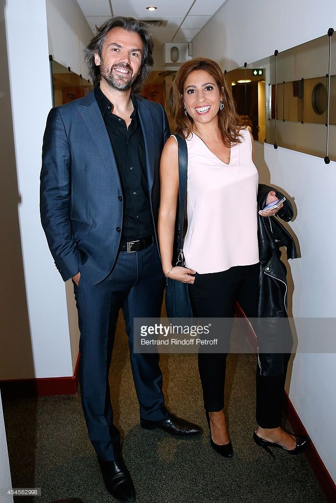 Members of the TV show 'On est pas couche' Lea Salame and Aymeric Caron attend the 'Vivement...