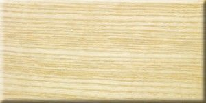 Ash veneer with clear lacquer finish.