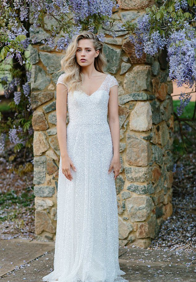 Low Back Wedding Dresses Sydney : Sydney wedding dress hand beaded sequinned embellished bridal gown
