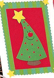 """Basteln zu Weihnachten: Weihnachtskarten basteln: """"Tannenbaum"""""""