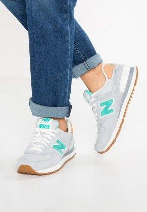 size 40 64547 34682 New Balance Wl574 Trainers Low Of Light Grey Limeade Black For Men s And  Women s