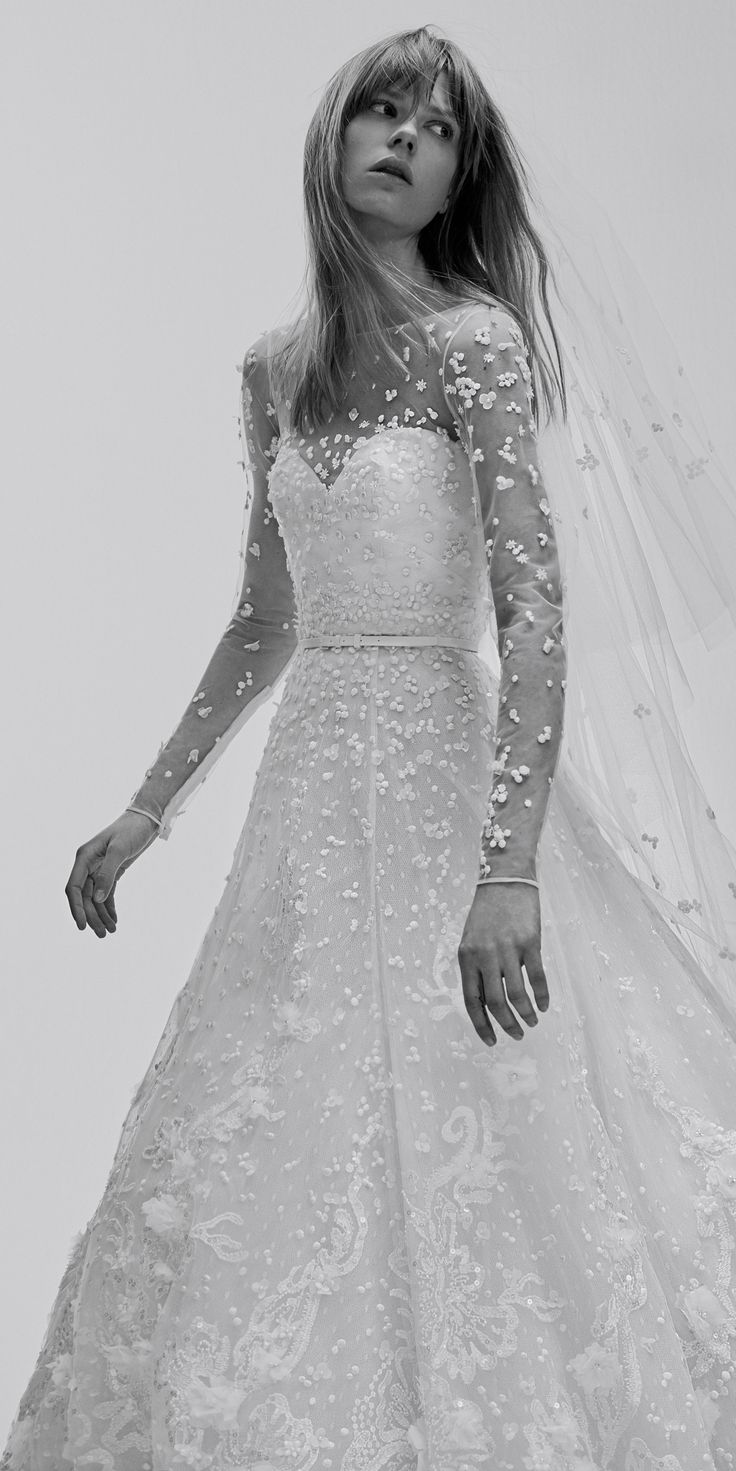 The Prettiest Spring 2017 Wedding Dresses from Bridal Fashion Week - Elie Saab - from InStyle.com
