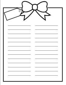 Christmas Wish List- Also one for younger kids to draw pictures for their wishes!