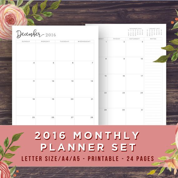 Monthly Calendar Book : Ideas about monthly planner printable on pinterest