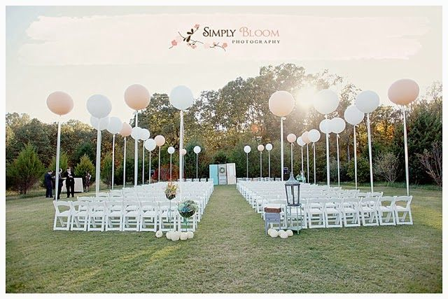6 Pretty Perfect Ways to Use Balloons in Your Wedding, so cute