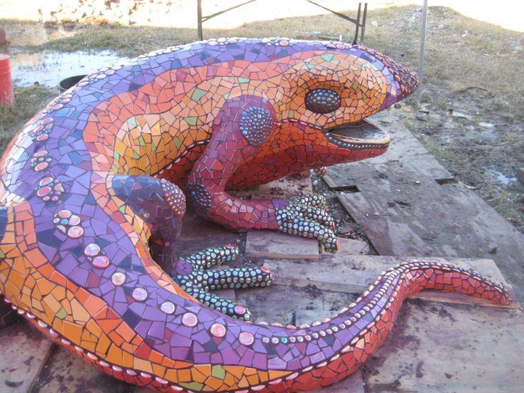 147 besten gecko lizard mosaics bilder auf pinterest mosaik mosaikhandwerk und mosaikkunst. Black Bedroom Furniture Sets. Home Design Ideas