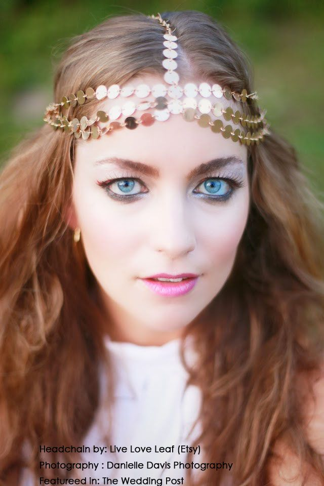 70s Hairstyle - Bohemian style Wedding Hair accessory ...