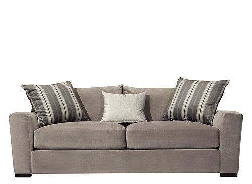 This Carlin Microfiber Sofa In Granite Will Make A Great