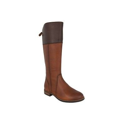 TAMARIS 1-25530-27 - Γυναικείες Μπότες Δερμάτινες ιππασίας σε καφε-ταμπά χρώμα