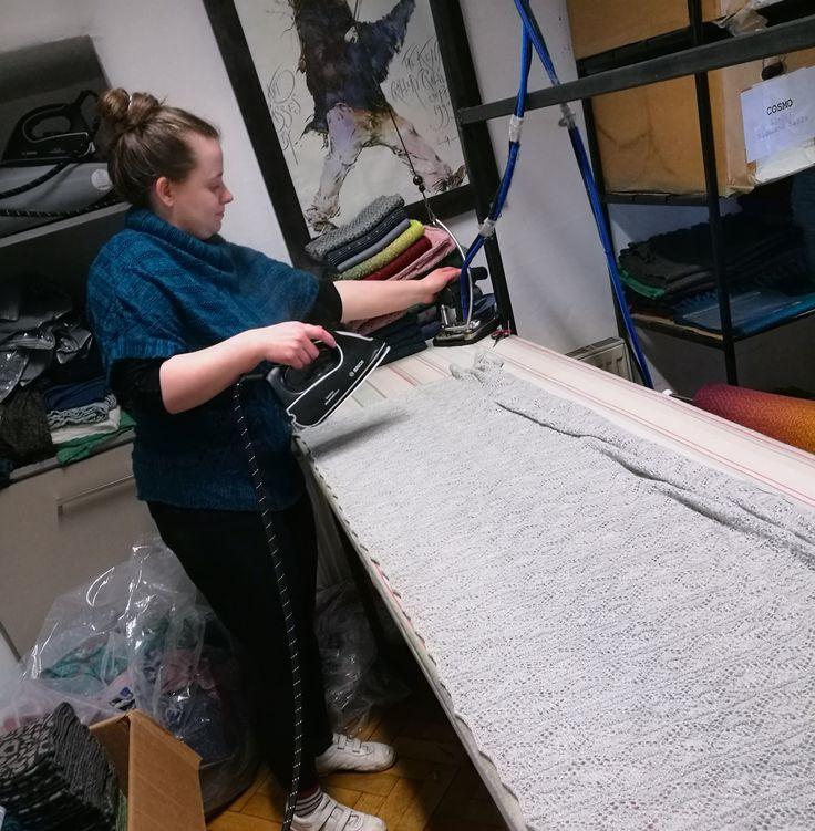 Monday Morning Preparations | Shop Details | McKernan Woollen Mills | Irish Scarves | Handmade in Ireland | Irish Design | Weaving & Knitting | Handmade Accessories | Womens & Mens scarves