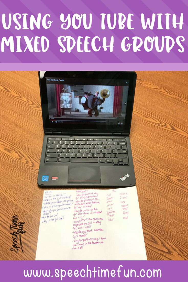 Planning for mixed speech therapy groups can be a challenge, but you know what helps? YouTube! I'm explaining how to use it with mixed groups in this post.