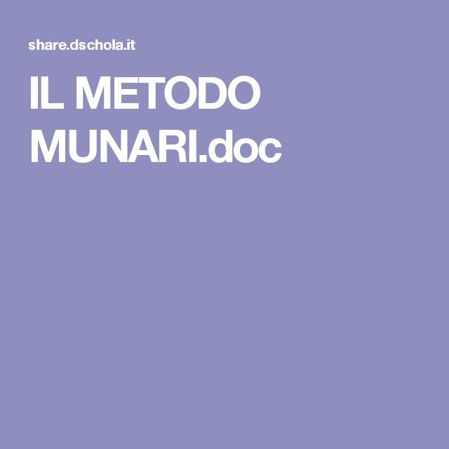 IL METODO MUNARI.doc