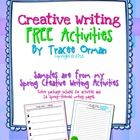 FREE Spring Creative Writing Exercises contains two writing activities for your students to practice their creative thinking skills.    For additio...