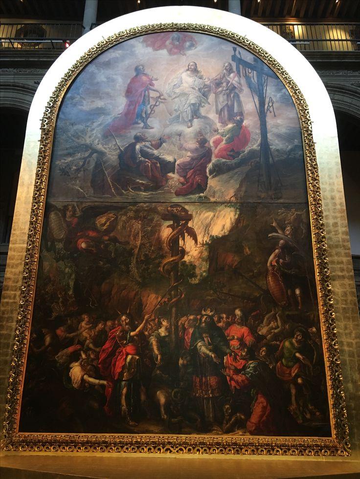 The brazen serpent and the transfiguration (1683) Cristobal de Villalpando Barroco