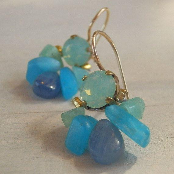 #Earrings, #Gemstone-Jewelry, #Jewelry Mother's Day Something Blue  Blue Jewelry Blue by yifatbareket - http://www.judaic-jewelry.com/earrings/mothers-day-something-blue-blue-jewelry-blue-by-yifatbareket.html