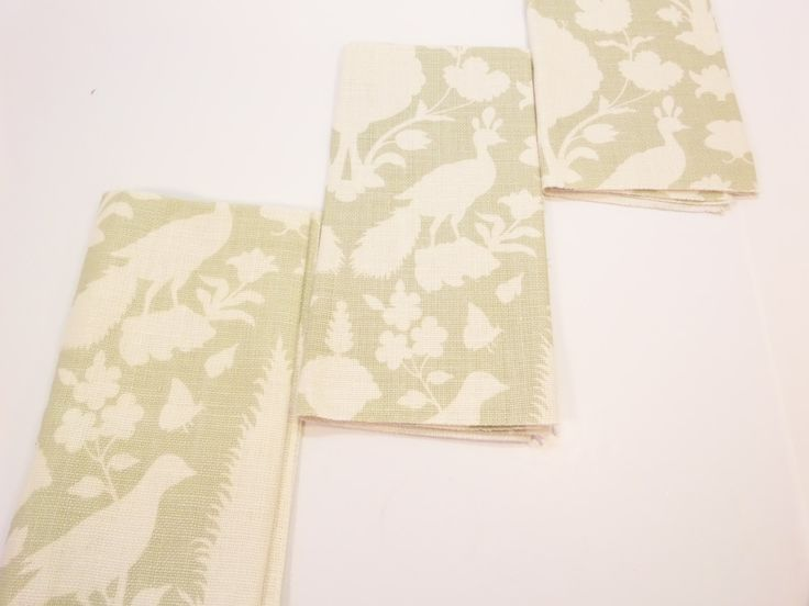 Toile Fabric F Schumacher Fabric 173560 Chenonceau Sage 100% Linen + FREE SAMPLES Included with Your Purchase by Fabricsamples10 on Etsy