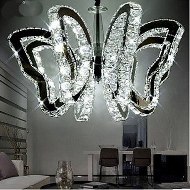 "$448 (47% off $835)  H 17""  W  29"" diameter Butterfly Restaurant  LED Crystal Lamp. Ambient light."