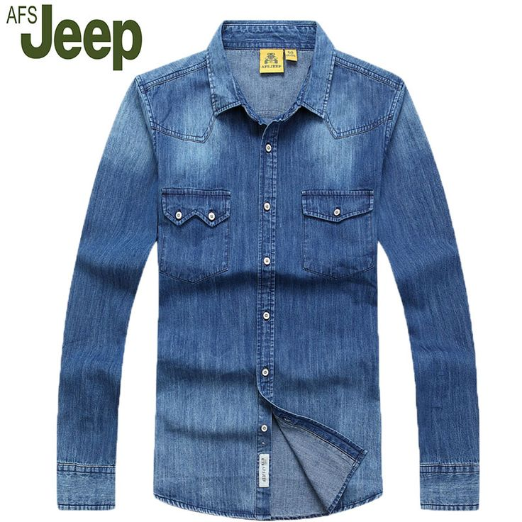 >> Click to Buy << 2016 Promotions latest explosion models AFS JEEP / Battlefield Jeep men's fall fashion casual denim shirt solid color 90 #Affiliate