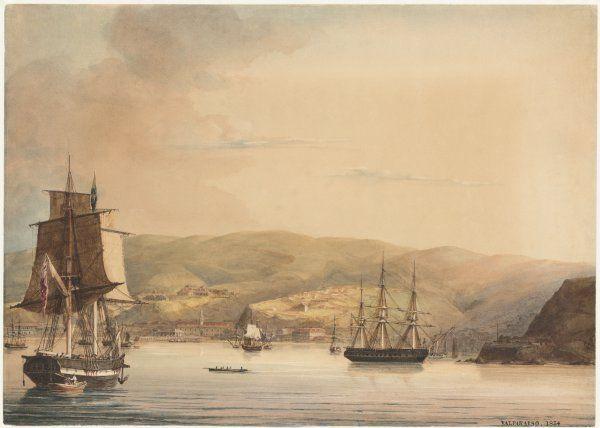 Valparaíso, Año 1834                                                  Autor:   Martens Conrad.