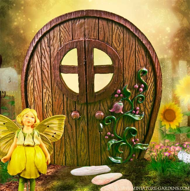An enchanted fairy door in our miniature fairy garden. & 35 best Fairy Doors images on Pinterest | Fairies garden Fairy ... Pezcame.Com