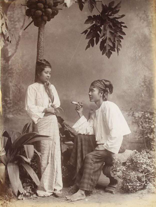 A Burmese Girl and Man by Philip Adolphe Klier