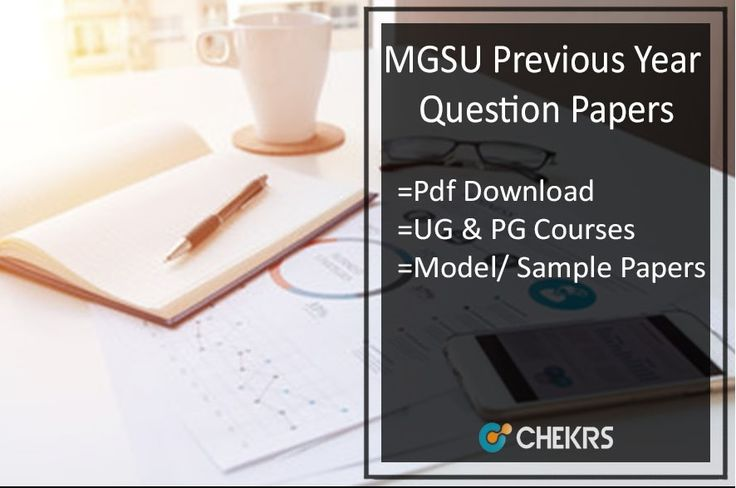 MGSU Previous Year Question Papers 2018 Bikaner University Model Papers