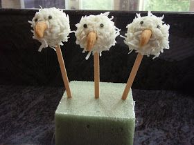 Bald Eagle Cake Pop   I have made a few cake pops in the last few days and I had some leftover dough so I looked on-line and tried to come...