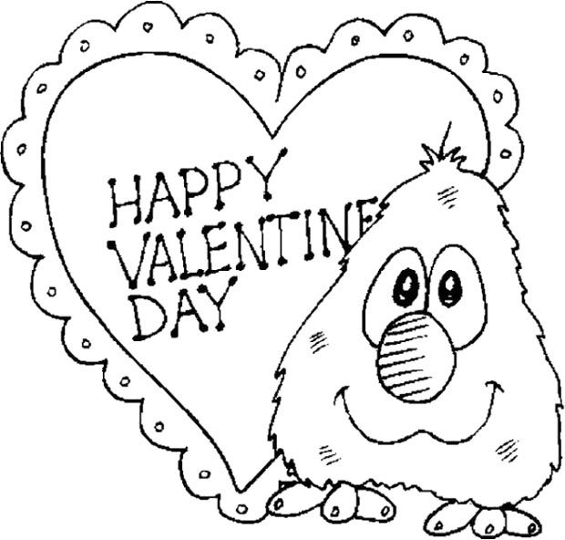 happy valentines day coloring pages free