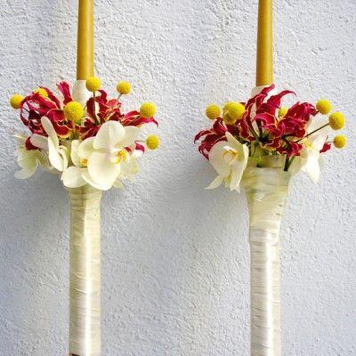 yau concept _ yau flori+lumanari de cununie lungi+ceara naturala
