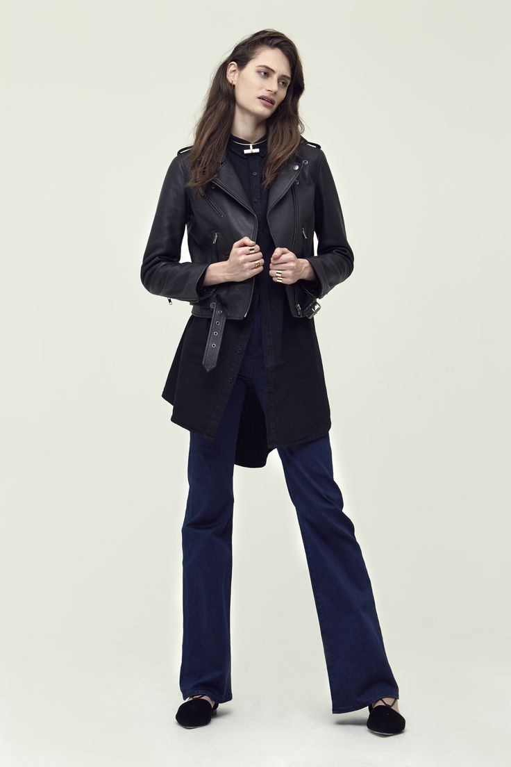 Berlin Jacket + Morrisy Shirt Dress + High Kick Flare - Neuw Denim